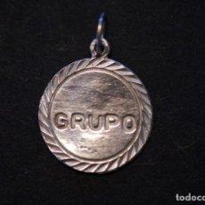 Joyeria: COLGANTE DE PLATA GRUPO SANGUÍNEO. Lote 195030021