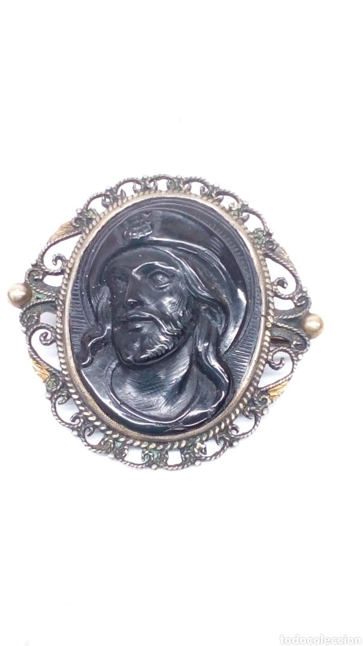 Joyeria: Broche antiguo Oro y Plata con piedra Onix tallada antiguo - Foto 2 - 195209083
