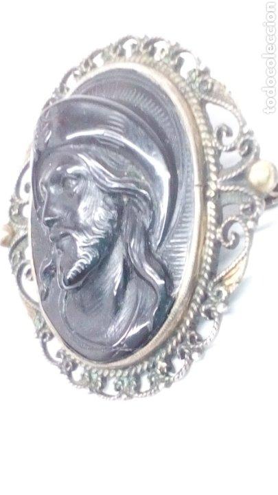 Joyeria: Broche antiguo Oro y Plata con piedra Onix tallada antiguo - Foto 3 - 195209083