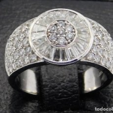 Joyeria: ESPECTACULAR ANILLO ORO BLANCO 18K Y DIAMANTES 2,3C7 - VS/H. Lote 195269316