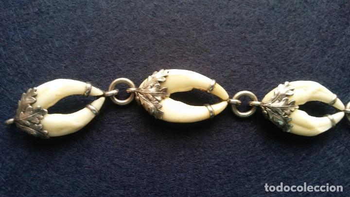 Joyeria: Antigua pulsera austriaca plata de ley trofeo caceria - Foto 3 - 195353585