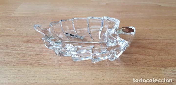 Joyeria: 330-Cenicero o bandeja vacía-bolsillos de cristal al 20% Pb, con uña de plata. - Foto 2 - 195390226