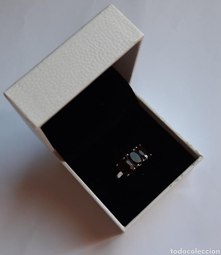Joyeria: anillo plata cuarzo ahumado marcado tggg 925 . talla 16.9 milímetros. 3.28 gramos. .Usado en buen - Foto 2 - 195423618