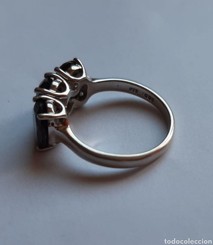 Joyeria: anillo plata cuarzo ahumado marcado tggg 925 . talla 16.9 milímetros. 3.28 gramos. .Usado en buen - Foto 4 - 195423618