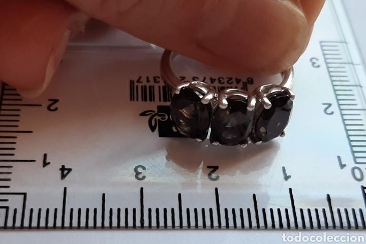 Joyeria: anillo plata cuarzo ahumado marcado tggg 925 . talla 16.9 milímetros. 3.28 gramos. .Usado en buen - Foto 10 - 195423618