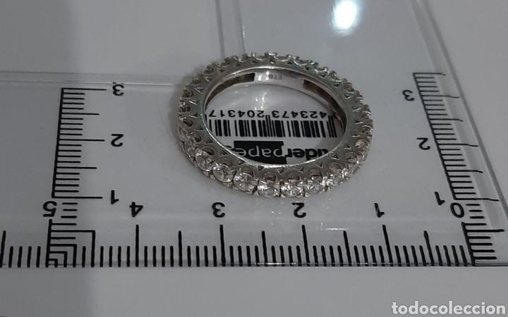Joyeria: Anillo marcado en 925 rodeado de 26 circonitas 4x4 mm . talla 18.3 milímetros . 4.12 gramos . - Foto 7 - 195508456