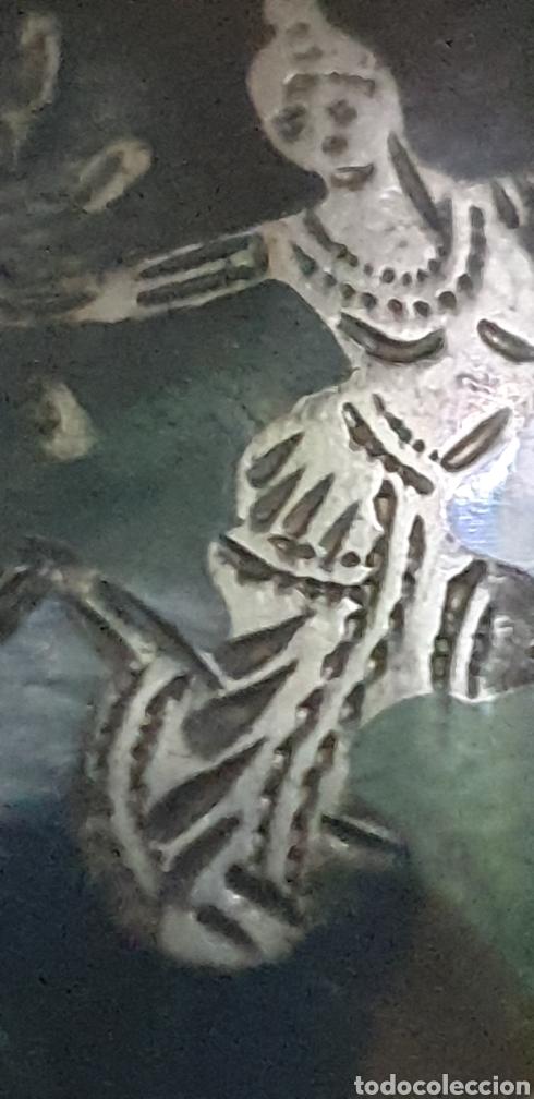 Joyeria: Exquisito colgante Siam antiguo filigrana de plata de ley 925 - Foto 2 - 195525448