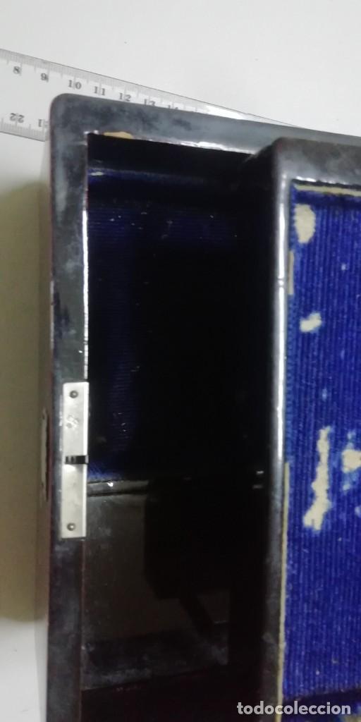 Joyeria: Caja de música joyero de madera decorada. - Foto 4 - 195630466