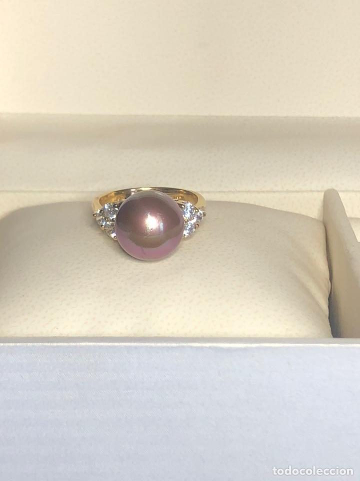 Joyeria: anillo de plata de ley 925 acabado en oro - Foto 7 - 192553395