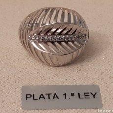 Joyeria: ANILLO DE PLATA Y TOPACIO. Lote 196284162