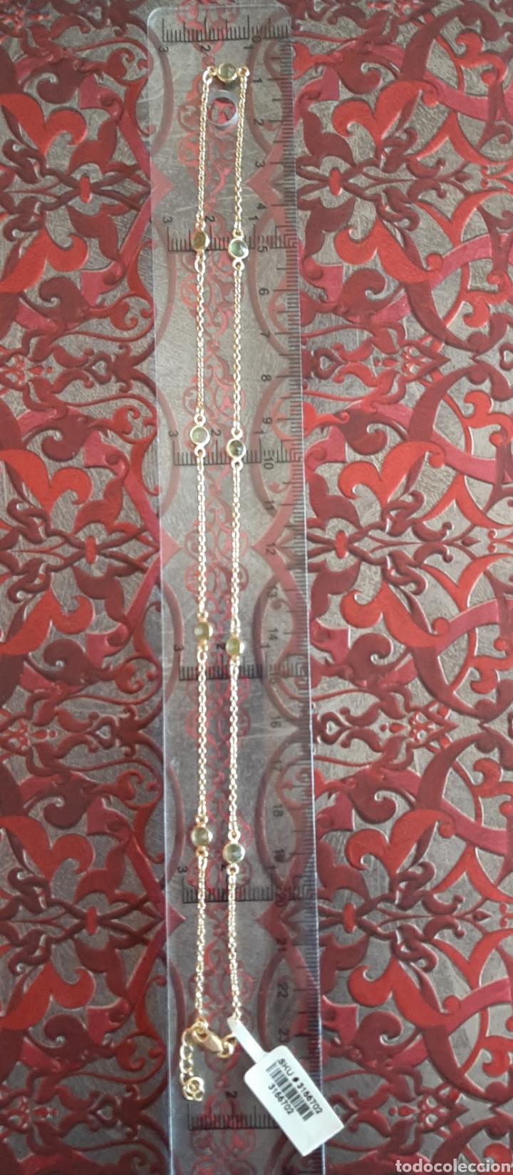 Joyeria: COLLAR DE PLATA MARCADO 925 Y TURMALINA VERDE, ESTADO NUEVO CON ETIQUETA. - Foto 6 - 194870592