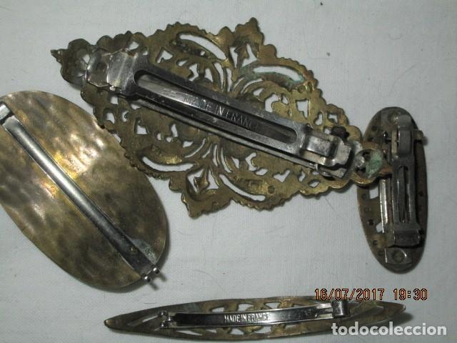 Joyeria: para fallas de valencia juego antigua broches dorados peineta fallera para peinado tocado pelo - Foto 3 - 196497986
