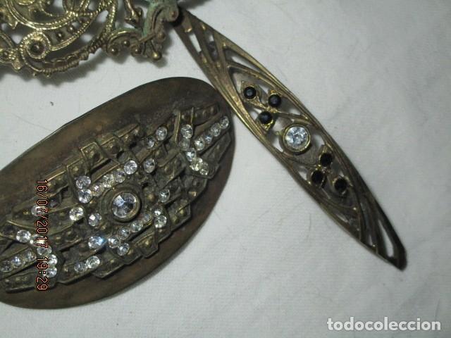 Joyeria: para fallas de valencia juego antigua broches dorados peineta fallera para peinado tocado pelo - Foto 8 - 196497986