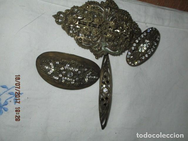 Joyeria: para fallas de valencia juego antigua broches dorados peineta fallera para peinado tocado pelo - Foto 10 - 196497986
