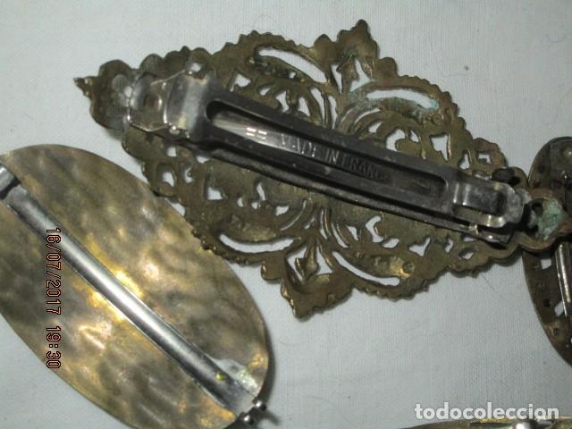 Joyeria: para fallas de valencia juego antigua broches dorados peineta fallera para peinado tocado pelo - Foto 11 - 196497986