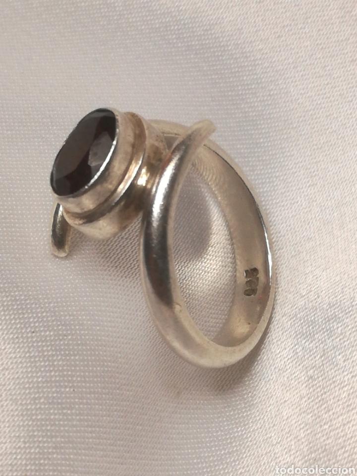 Joyeria: Antiguo anillo plata y granate - Foto 2 - 196557448