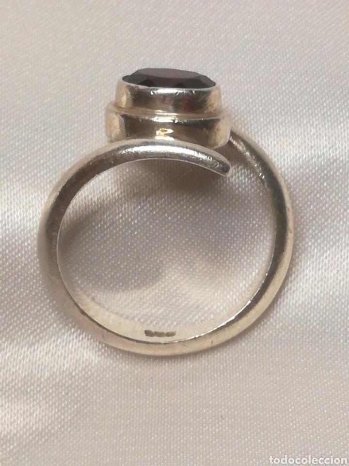 Joyeria: Antiguo anillo plata y granate - Foto 3 - 196557448