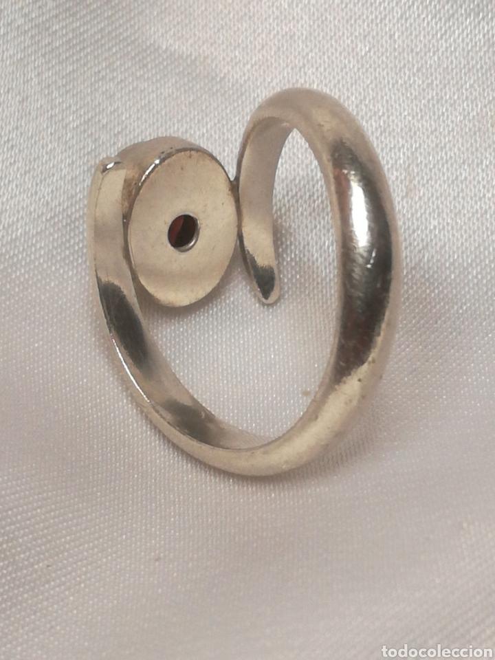 Joyeria: Antiguo anillo plata y granate - Foto 4 - 196557448