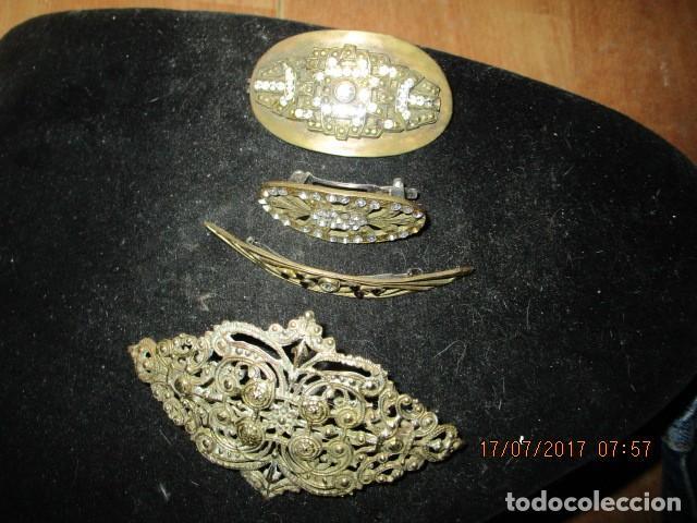 Joyeria: para fallas de valencia juego antigua broches dorados peineta fallera para peinado tocado pelo - Foto 2 - 196497986