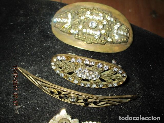 Joyeria: para fallas de valencia juego antigua broches dorados peineta fallera para peinado tocado pelo - Foto 14 - 196497986