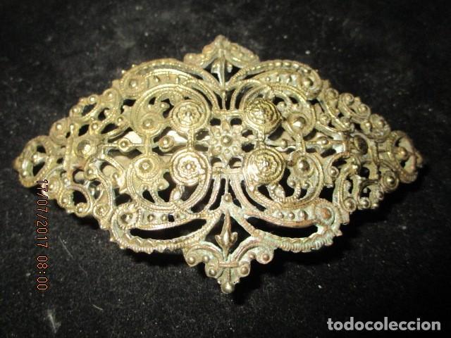 Joyeria: para fallas de valencia juego antigua broches dorados peineta fallera para peinado tocado pelo - Foto 4 - 196497986