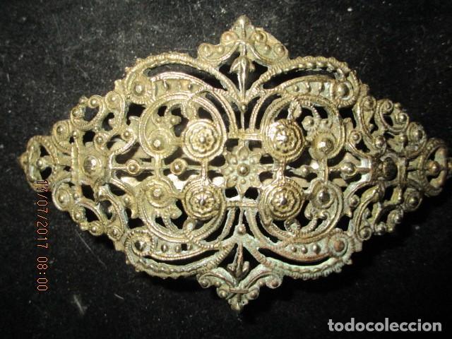 Joyeria: para fallas de valencia juego antigua broches dorados peineta fallera para peinado tocado pelo - Foto 15 - 196497986