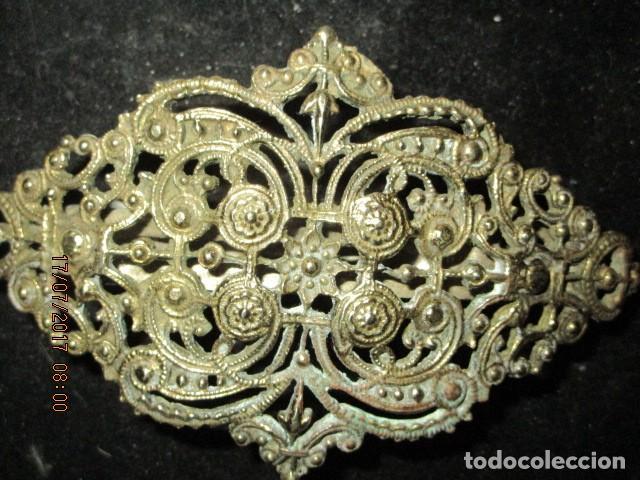 Joyeria: para fallas de valencia juego antigua broches dorados peineta fallera para peinado tocado pelo - Foto 16 - 196497986