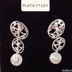 Joyeria: PENDIENTES DE PLATA Y TOPACIOS. Lote 196775950