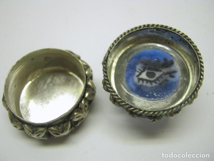 Joyeria: original cajita pastillero con ojo en pasta vitrea - Foto 3 - 196787158