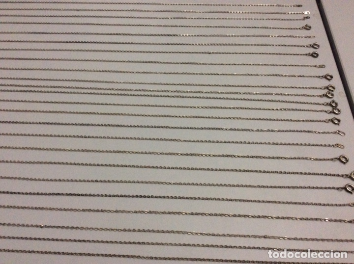 Joyeria: Lote de 29 cadenas de metal plateado 41 cm - Foto 2 - 197962793
