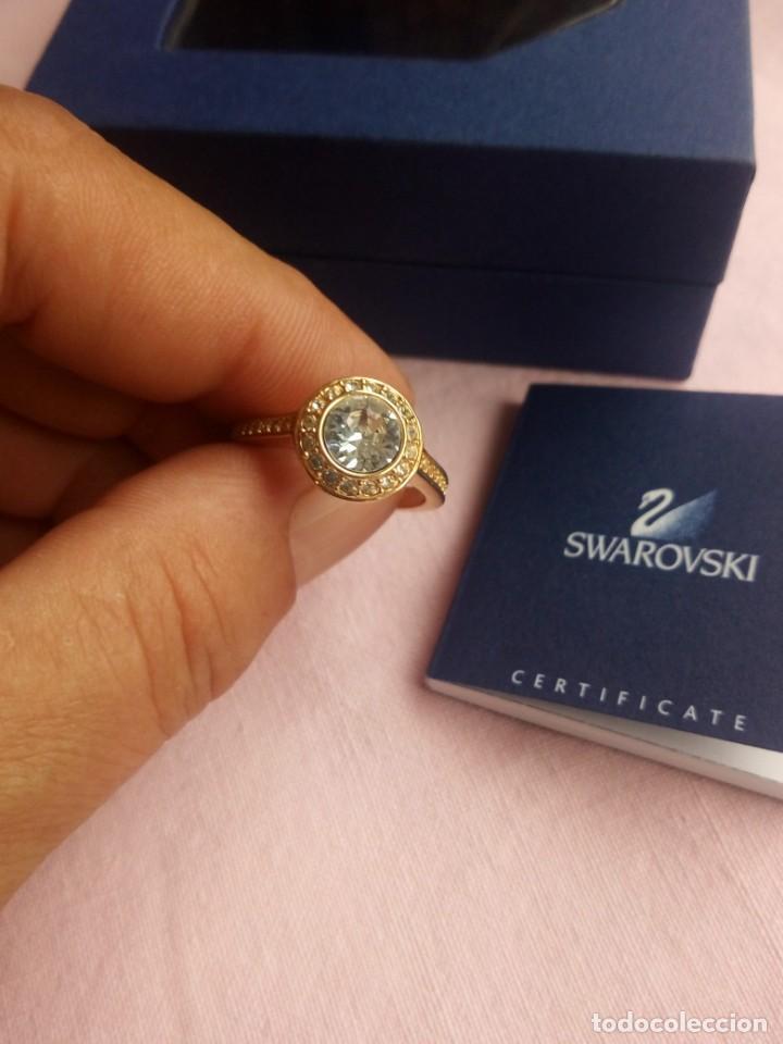 PRECIOSO ANILLO CHAPADO EN ORO CON CRISTALES SWAROVSKI ANGELIC GOLD RING 55,NUEVO (Joyería - Anillos Antiguos)