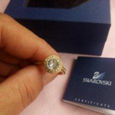 Joyeria: PRECIOSO ANILLO CHAPADO EN ORO CON CRISTALES SWAROVSKI ANGELIC GOLD RING 55,NUEVO. Lote 198056938