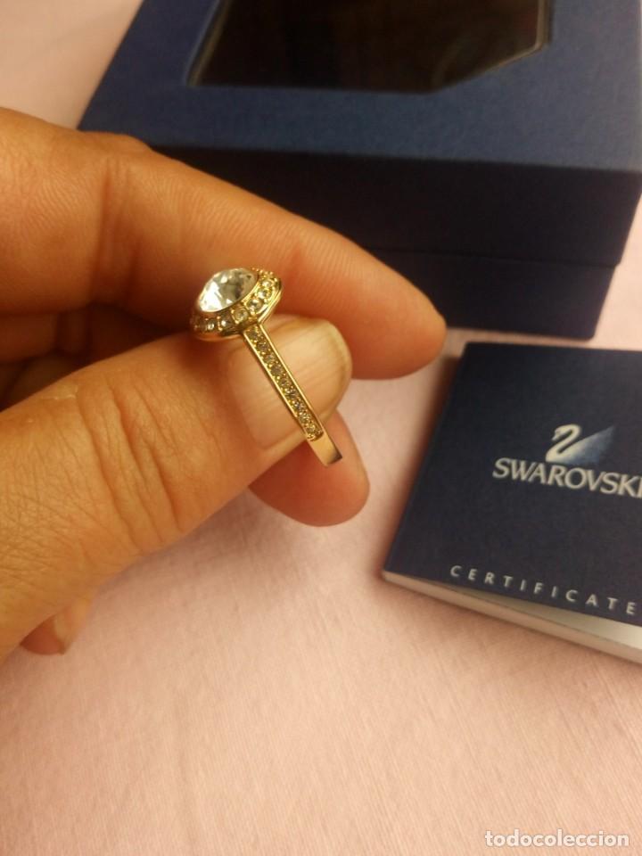 Joyeria: Precioso anillo chapado en oro con cristales SWAROVSKI Angelic Gold Ring 55,nuevo - Foto 3 - 198056938