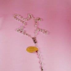 Joyeria: ROSARIO-PLATA DE LEY GARANTIZADA-ALCLU-ARTESANÍA RELIGIOSA-NUEVO-PERFECTOVER FOTOS-CAJA.. Lote 198581276