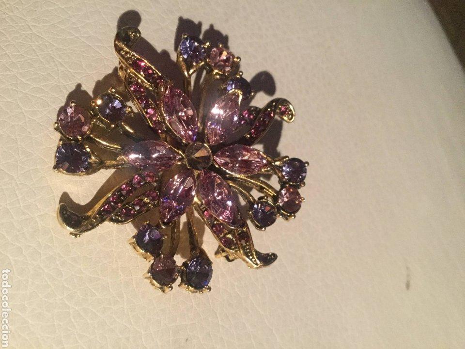Joyeria: Broche chapado en oro con piedras en bonitas tonalidades, sin estrenar - Foto 7 - 198830238