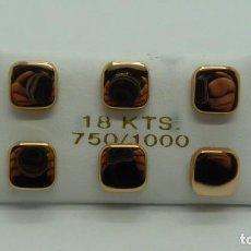 Joyeria: LOTE 3 PARES DE PENDIENTES EN ORO ROJO 18 KLTES. (750MM). Lote 199497262