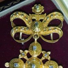 Joyeria: PRECIOSO BROCHE O COLGANTE SIGLO XVIII ORO 18 KILATES Y DIAMANTES.. Lote 199781421