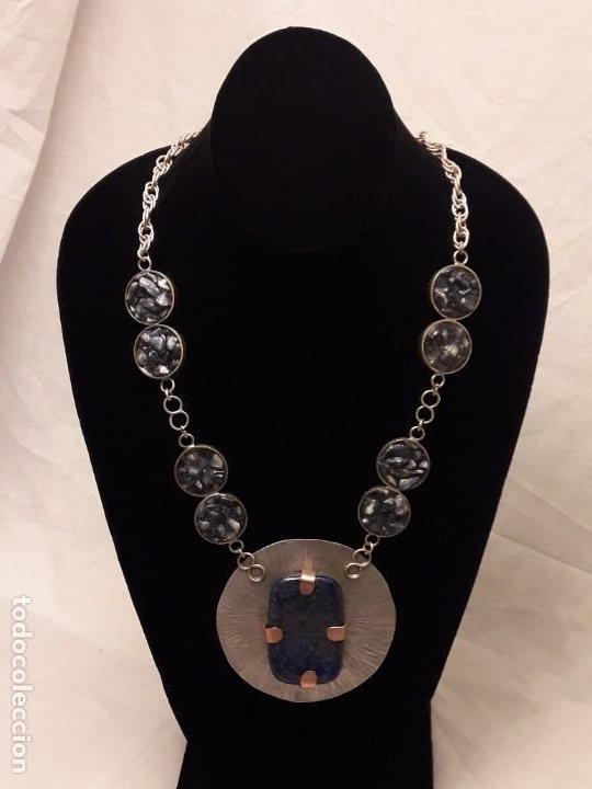 Joyeria: Precioso collar alpaca y lapislázuli hecho a mano pieza única - Foto 4 - 199914688