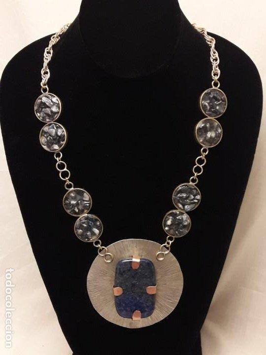 Joyeria: Precioso collar alpaca y lapislázuli hecho a mano pieza única - Foto 6 - 199914688