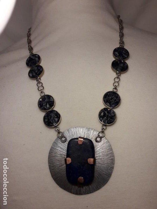 Joyeria: Precioso collar alpaca y lapislázuli hecho a mano pieza única - Foto 7 - 199914688
