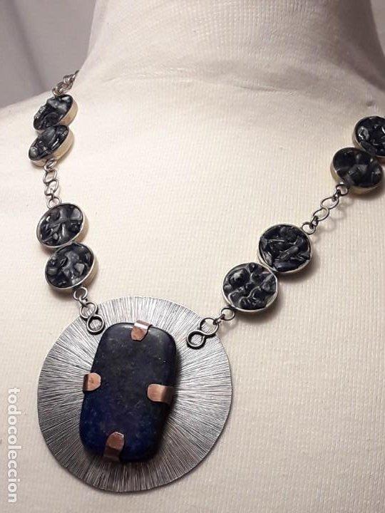 Joyeria: Precioso collar alpaca y lapislázuli hecho a mano pieza única - Foto 11 - 199914688