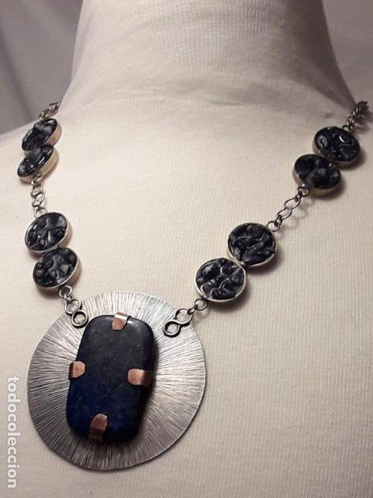 Joyeria: Precioso collar alpaca y lapislázuli hecho a mano pieza única - Foto 12 - 199914688
