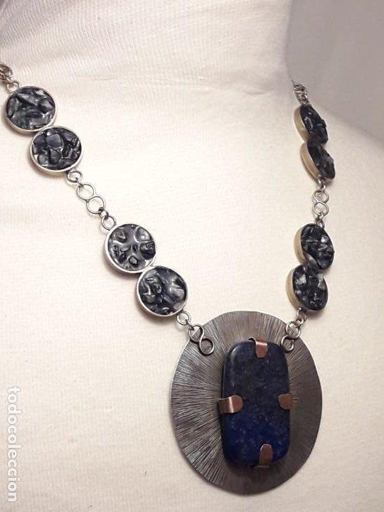 Joyeria: Precioso collar alpaca y lapislázuli hecho a mano pieza única - Foto 13 - 199914688