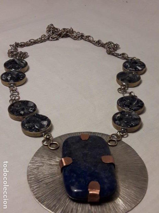 Joyeria: Precioso collar alpaca y lapislázuli hecho a mano pieza única - Foto 9 - 199914688