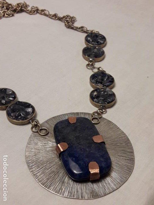Joyeria: Precioso collar alpaca y lapislázuli hecho a mano pieza única - Foto 2 - 199914688