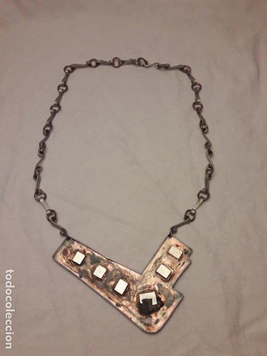 Joyeria: Bello collar de diseño hecho a mano alpaca cobre y pirita mineral natural MA Atelier pieza única - Foto 3 - 200141845