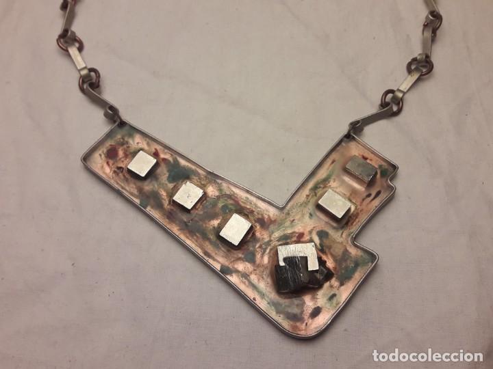 Joyeria: Bello collar de diseño hecho a mano alpaca cobre y pirita mineral natural MA Atelier pieza única - Foto 6 - 200141845