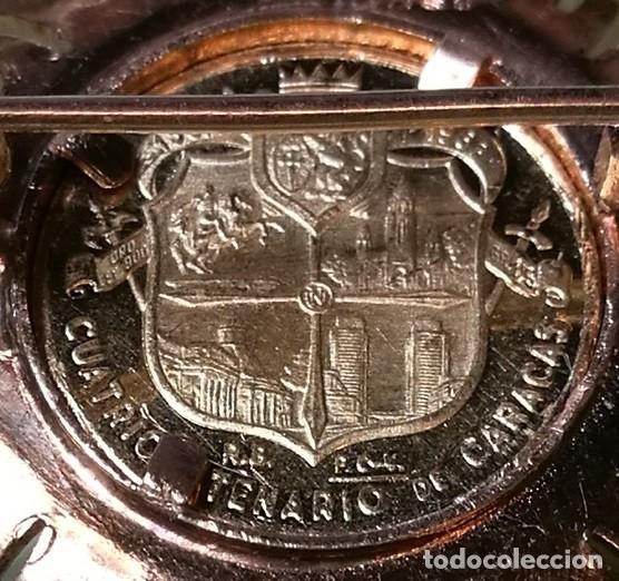 Joyeria: BROCHE CLAVILLO ORO AMARILLO CON MEDALLA (MONEDA) CONMEMORATIVA CUATRICENTENARIO CARACAS 18K 7,5 GR. - Foto 8 - 200173410