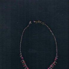 Joyeria: GARGANTILLA CON CADENA DE PLATA Y CRISTAL DE MURANO. Lote 200312412