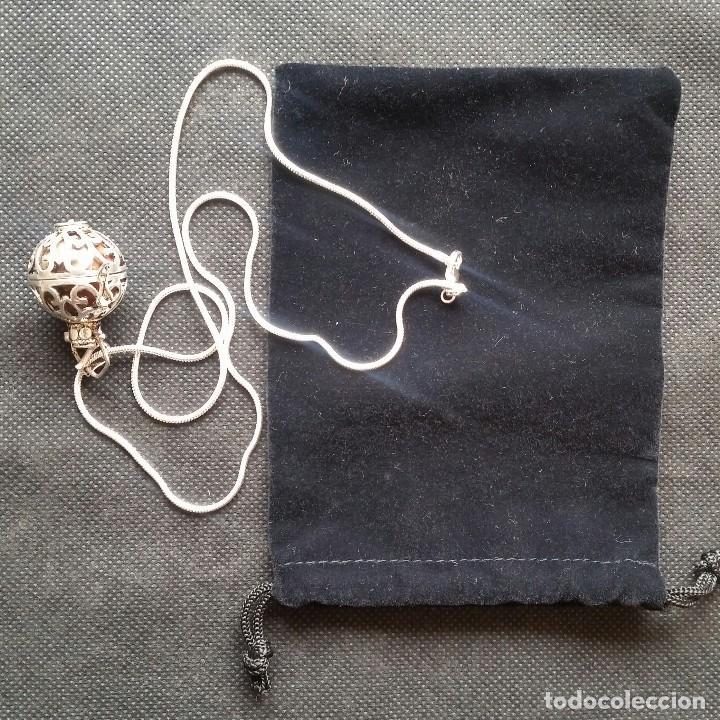 Joyeria: Collar con colgante redondo con una piedra de jade en el interior - Foto 2 - 213824112